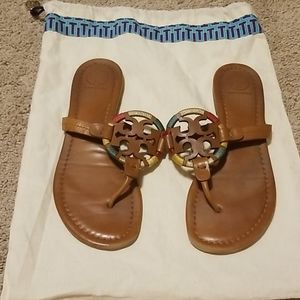 Tory Burch Shoes - tory burch Miller leather embroidered sandals 7.5M